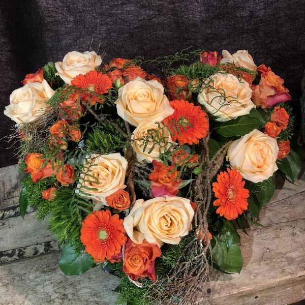 Trauer-Herz in orange-Tönen Bild 3