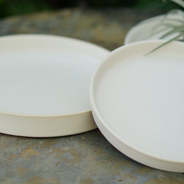 Keramikplatte in Mattweiß Bild 2
