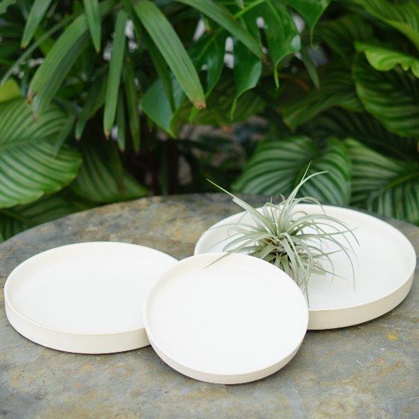Keramikplatte in Mattweiß Bild 1