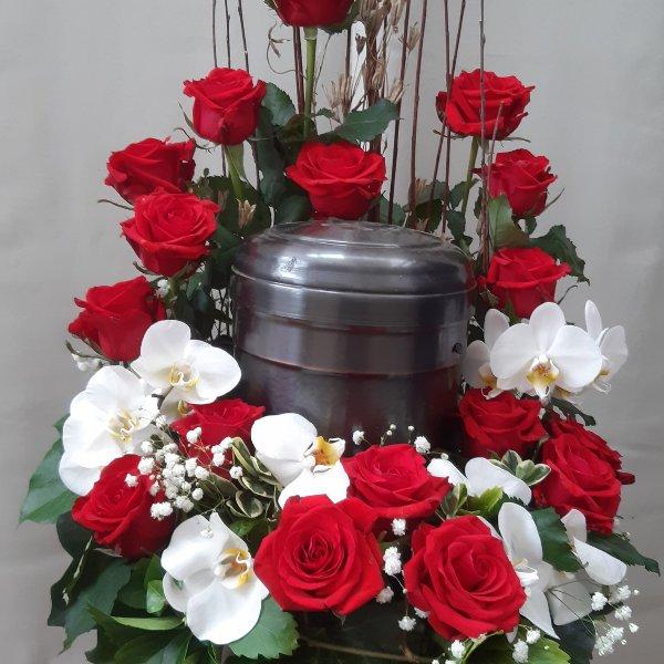 Urnenschmuck mit Orchideen 93010 Bild 1