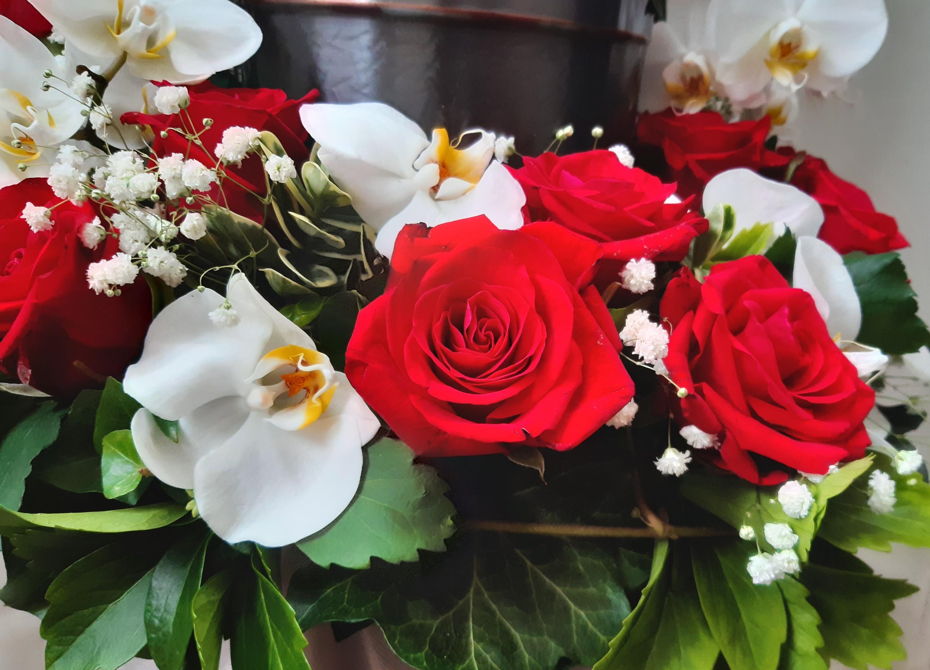 Urnenschmuck mit Orchideen 93010 Bild 3