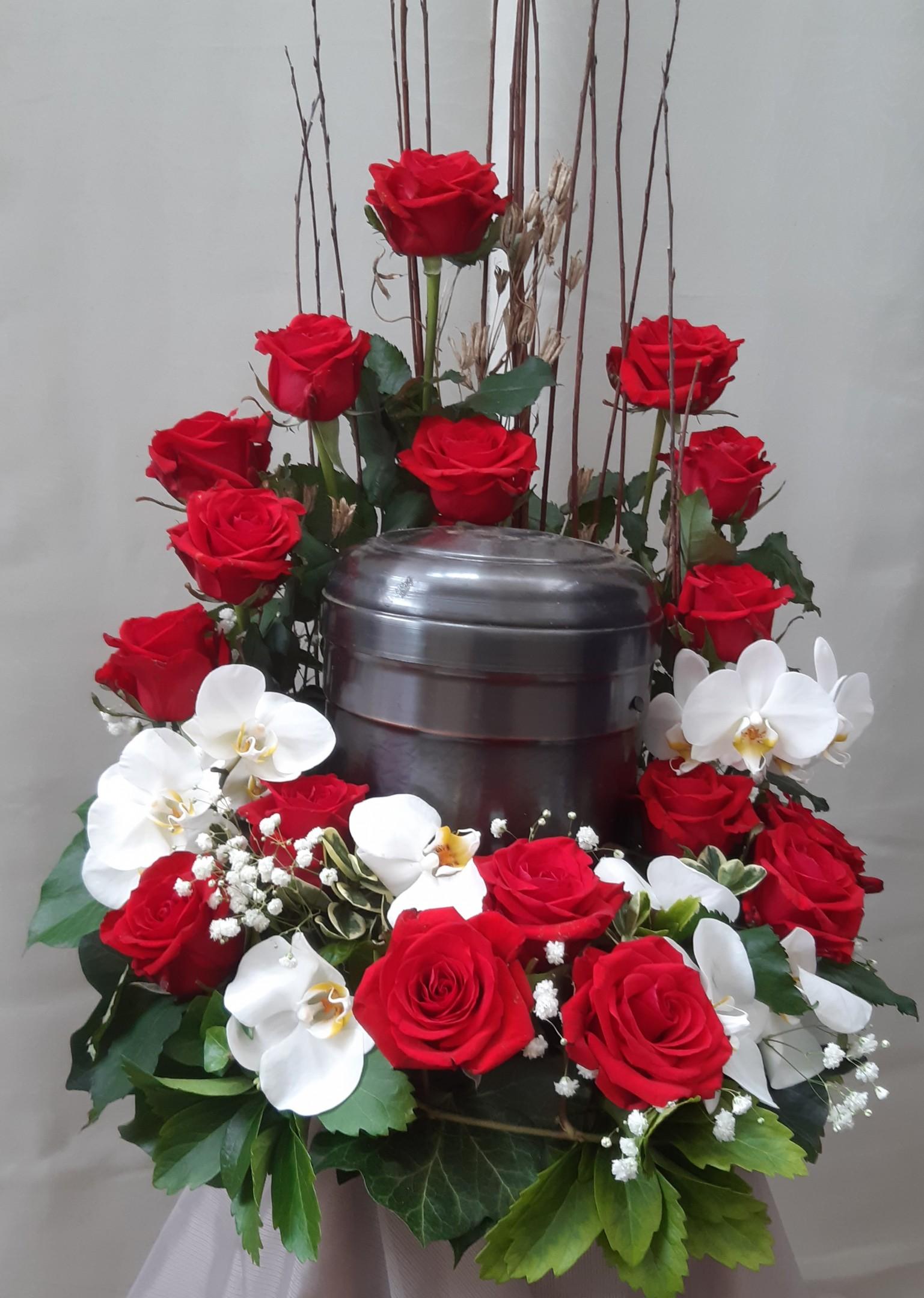 Urnenschmuck mit Orchideen 93010 Bild 2