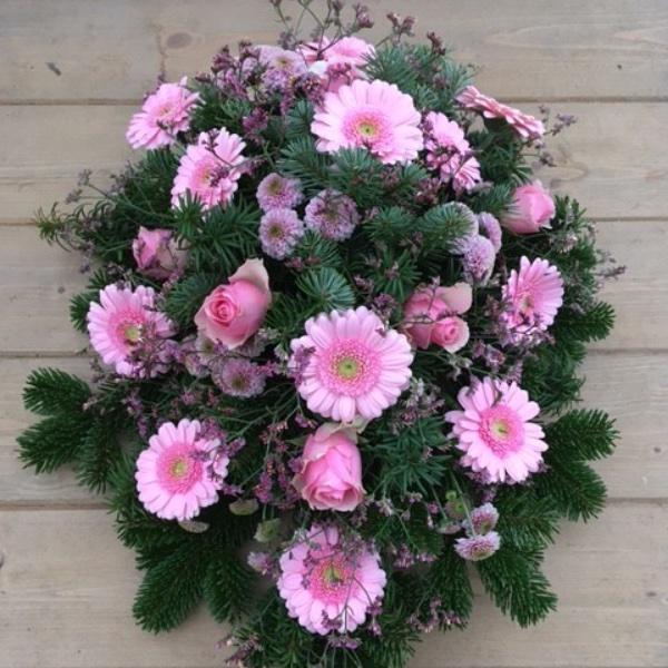 Trauergesteck pink Bild 1