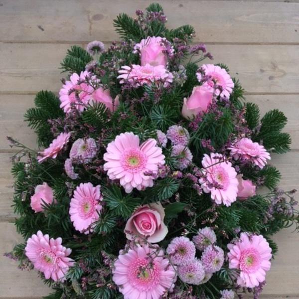Trauergesteck pink Bild 2