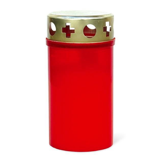 Grabkerze, rot, Brenndauer 3 Tage Bild 1
