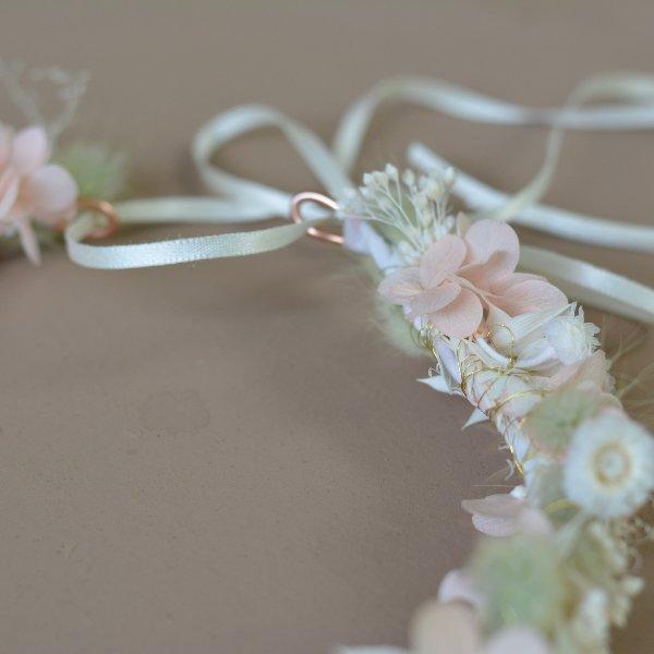 Trockenblumen Haarkranz `Leonie` Bild 2
