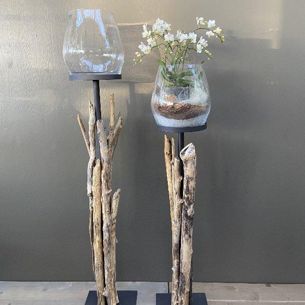 Glas auf Holzständer Bild 1