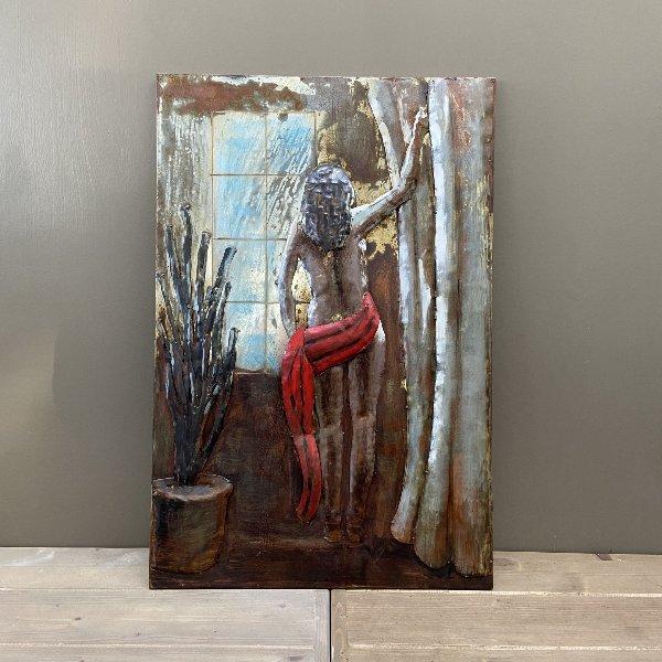 Metall Bild Frau 90 x 60 cm Bild 1