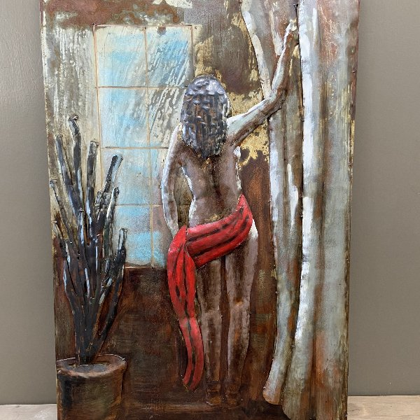 Metall Bild Frau 90 x 60 cm Bild 3