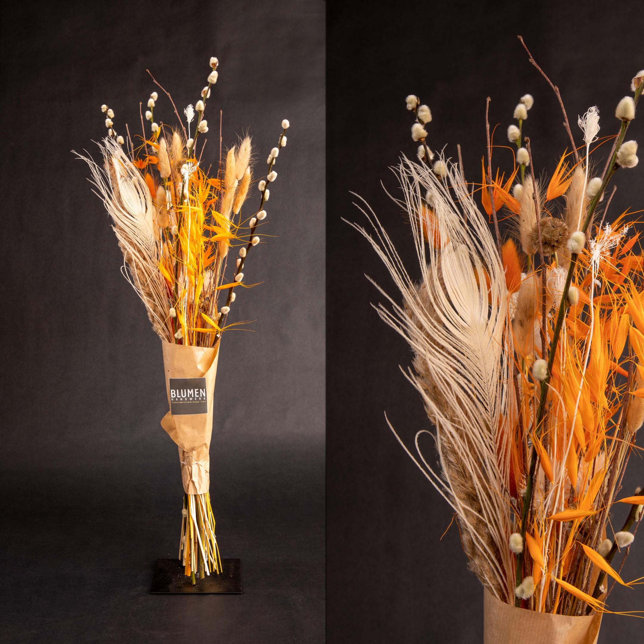 Trockenblumenbund Lichtstrahlen Bild 1