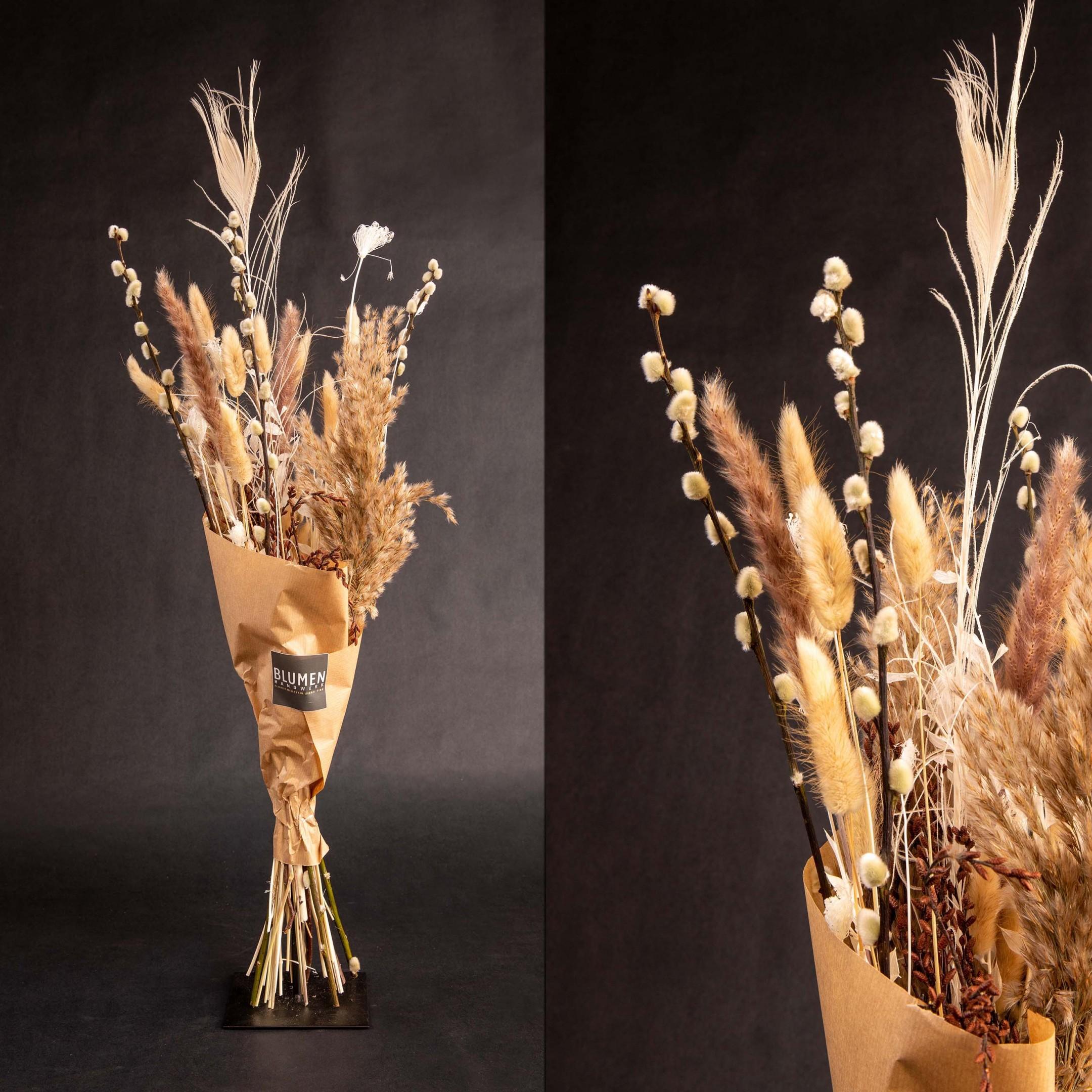 Trockenblumenbund Taupe Bild 1