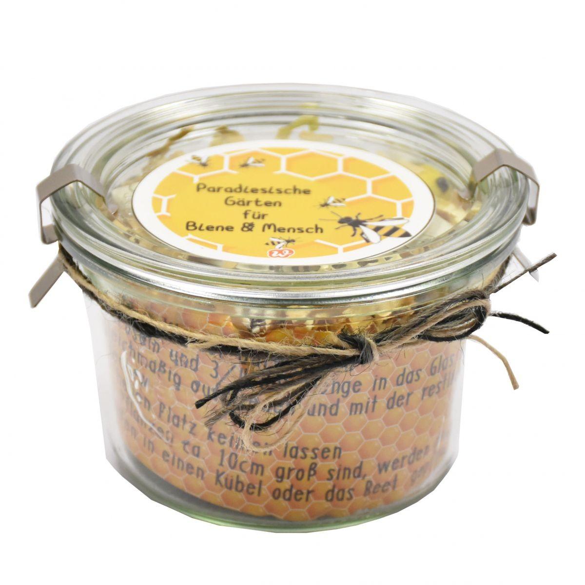 Bienengarten mit Saatgut im Weckglas Bild 1