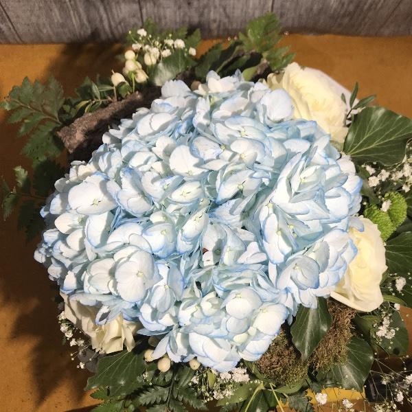 Blumenstrauß weiß/blau Bild 2
