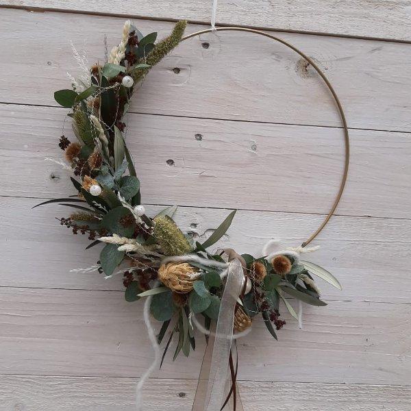 """Trockenblumen Hoop """"Nature"""" Bild 1"""