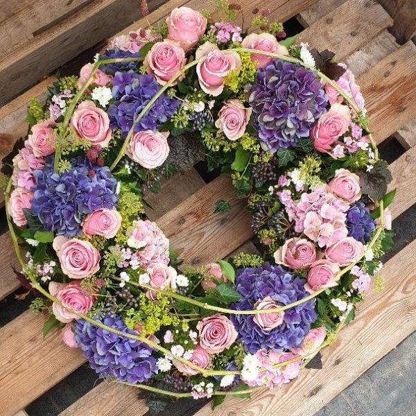 Blütenkranz rosa/violett Bild 1