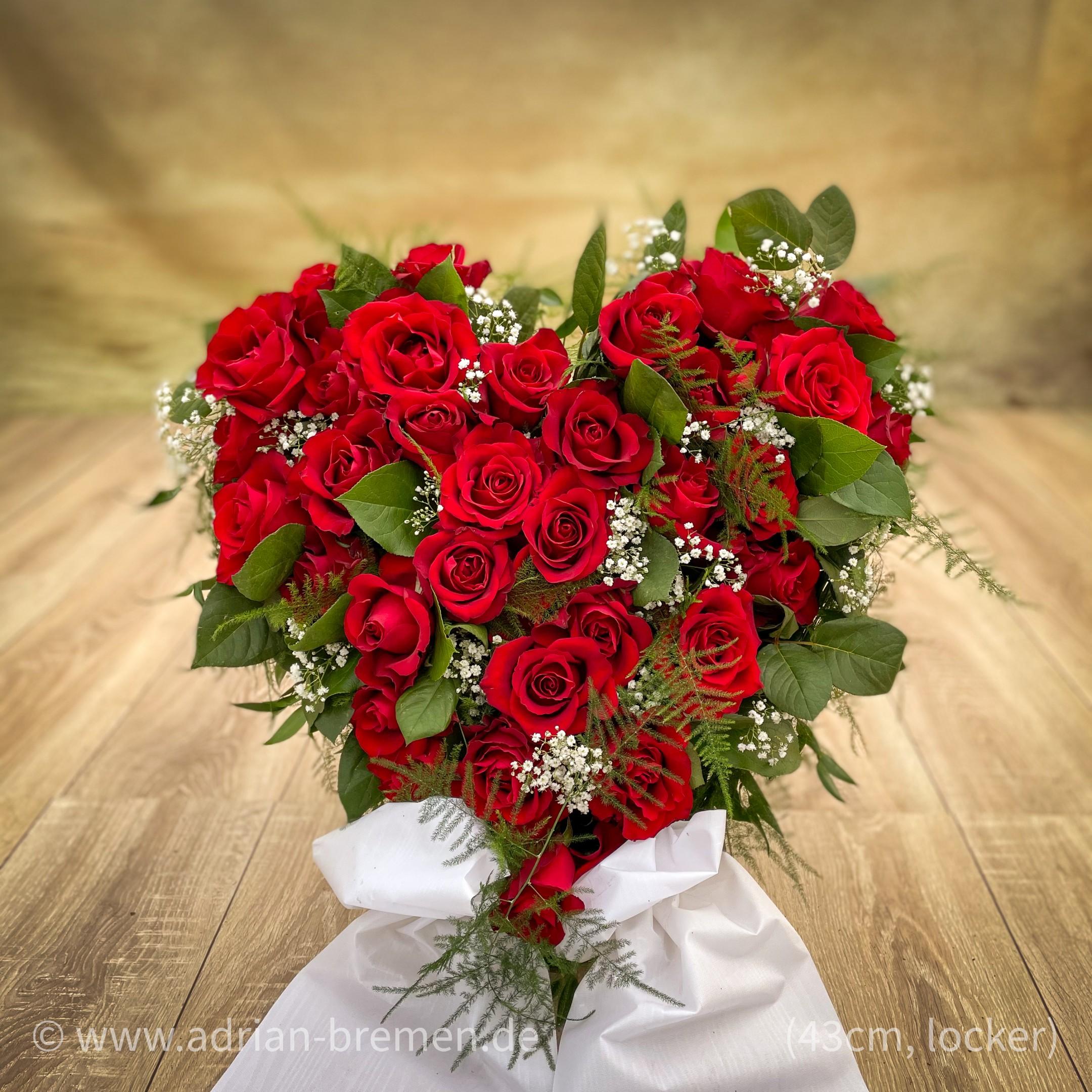 Rote Rosen-Herz mit Aufsteller Bild 2