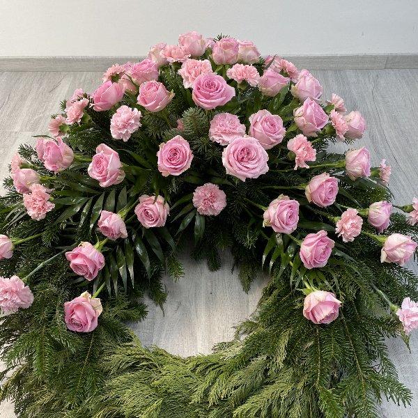 Trauerkranz rosa Bild 3