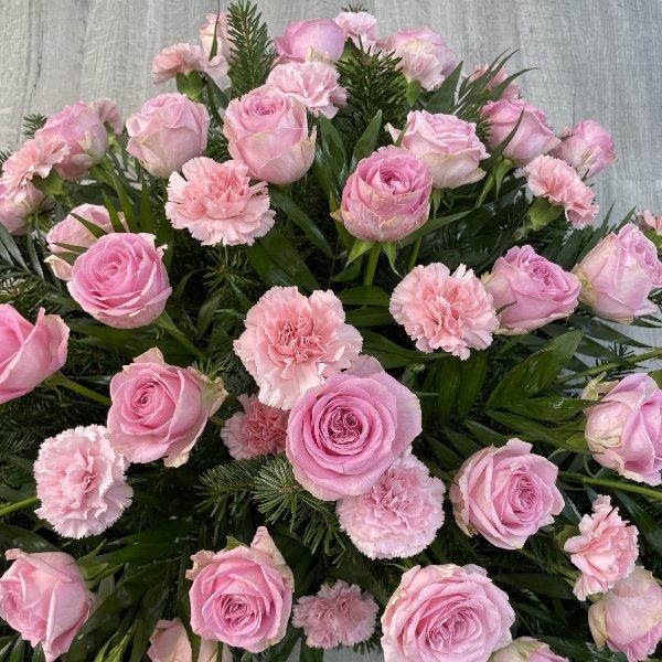 Trauerkranz rosa Bild 2