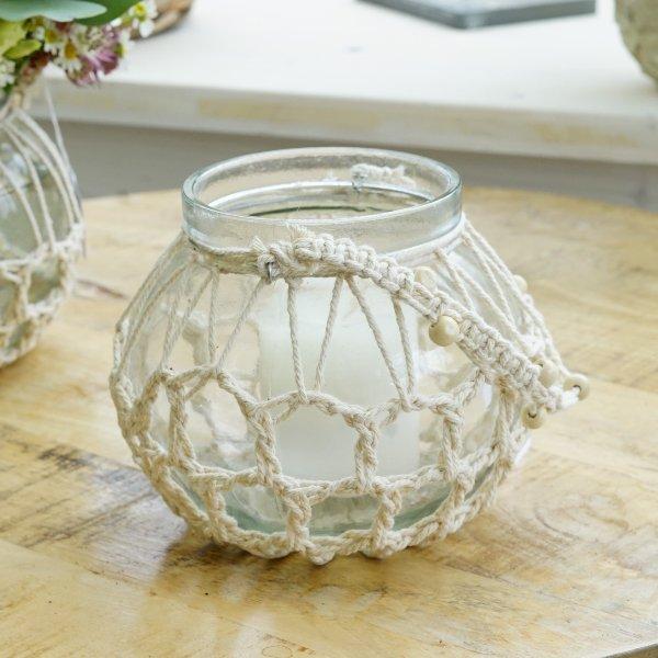 "Makramee-Glas ""Blütentraum"" Bild 2"