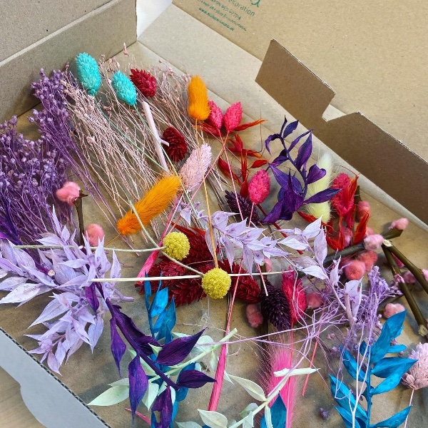 DIY Box Trockenblumenkranz Karibik Bild 2
