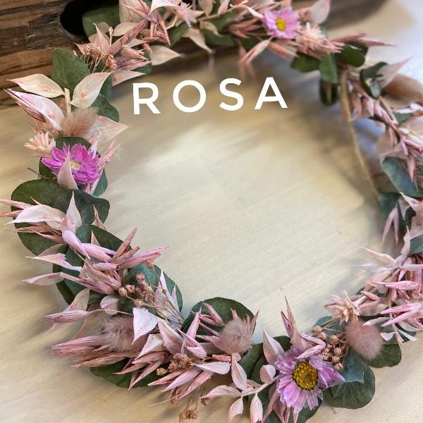 DIY Box Trockenblumenkranz rosa Bild 1