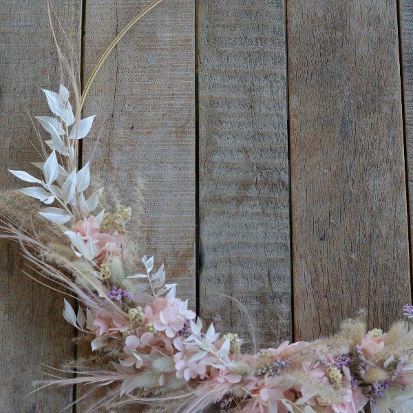 Trockenblumen Loop rosa Bild 1