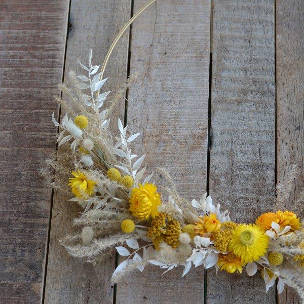 Trockenblumen Loop gelb Bild 1