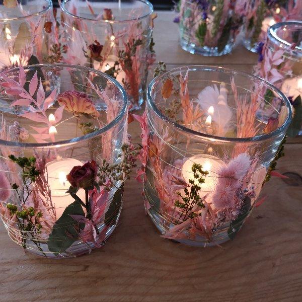 Blumen Windlicht Bild 1