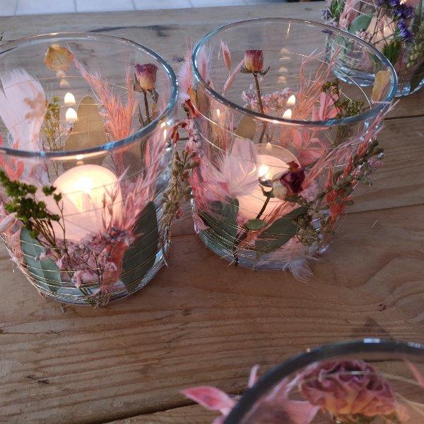 Blumen Windlicht Bild 3