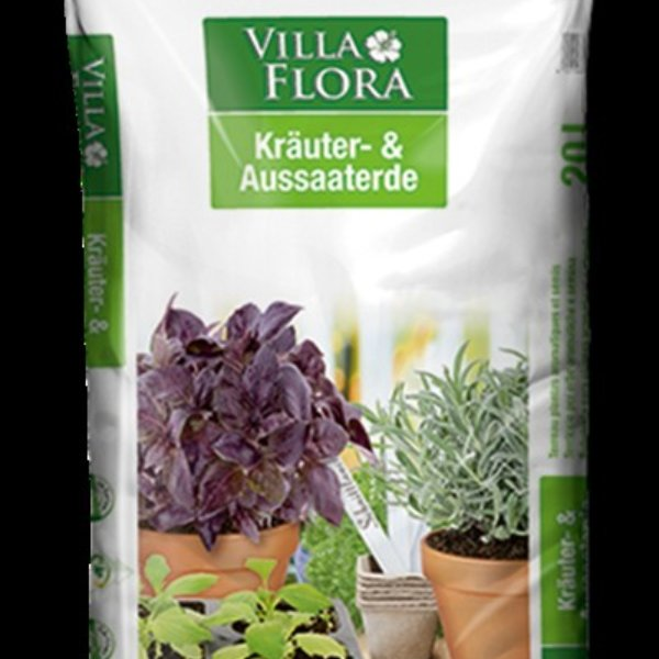 Villa Flora BIO Kräuter- und Aussaaterde 20 Liter Bild 1
