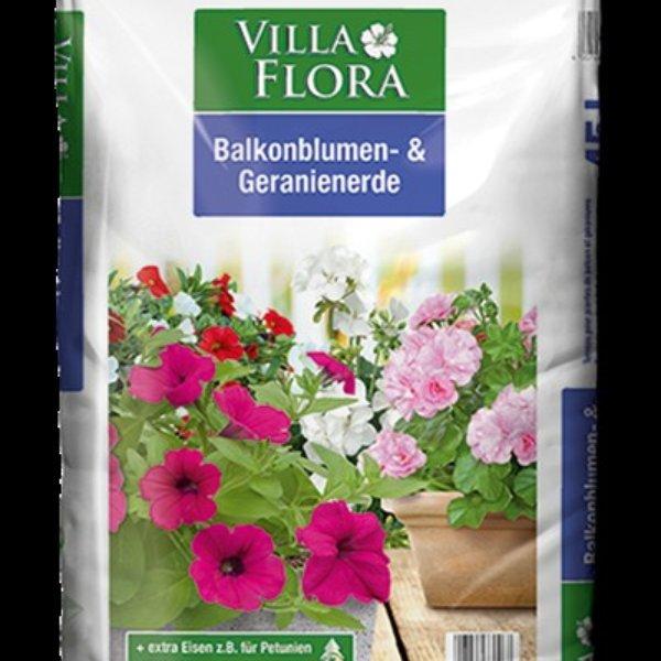 Villa Flora Balkonblumen und Geranienerde 45 Liter Bild 1
