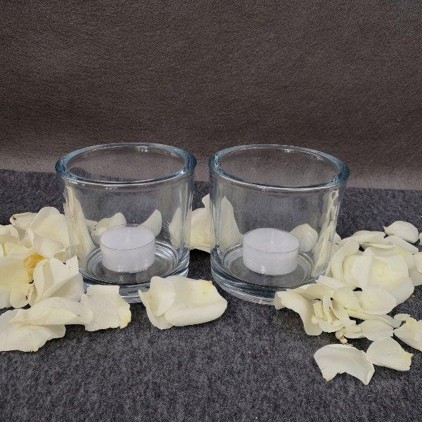 2 Kerzenlichter mit Streublumen Bild 1