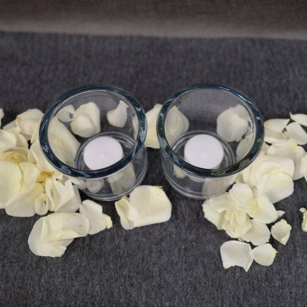 2 Kerzenlichter mit Streublumen Bild 2