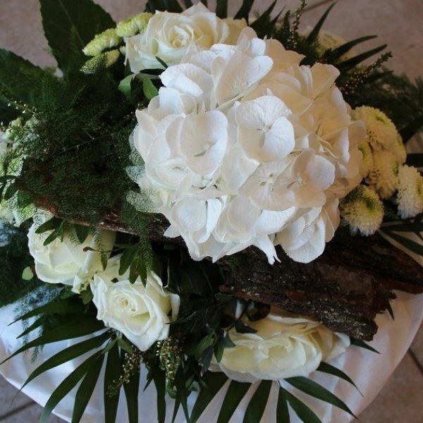 Blumenstrauß weiß - Strukturstrauß Bild 2