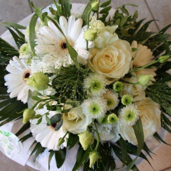 Blumenstrauß weiß - Strukturstrauß Bild 1