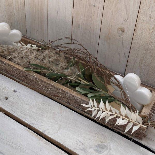 """Tablett """"White Flower"""" Bild 1"""