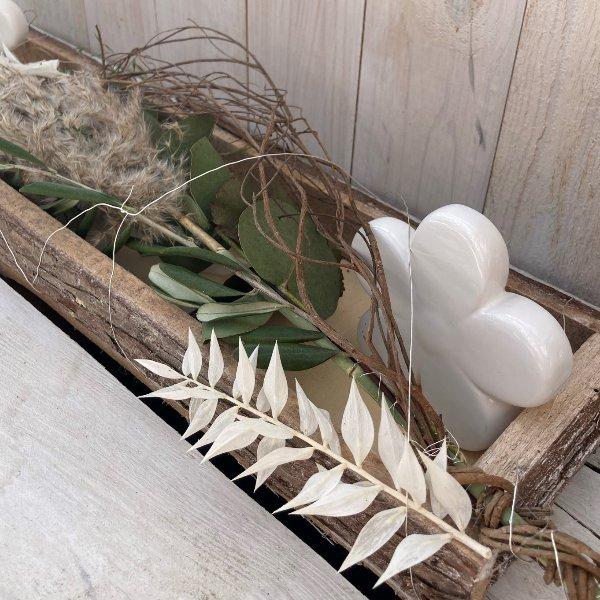 """Tablett """"White Flower"""" Bild 2"""