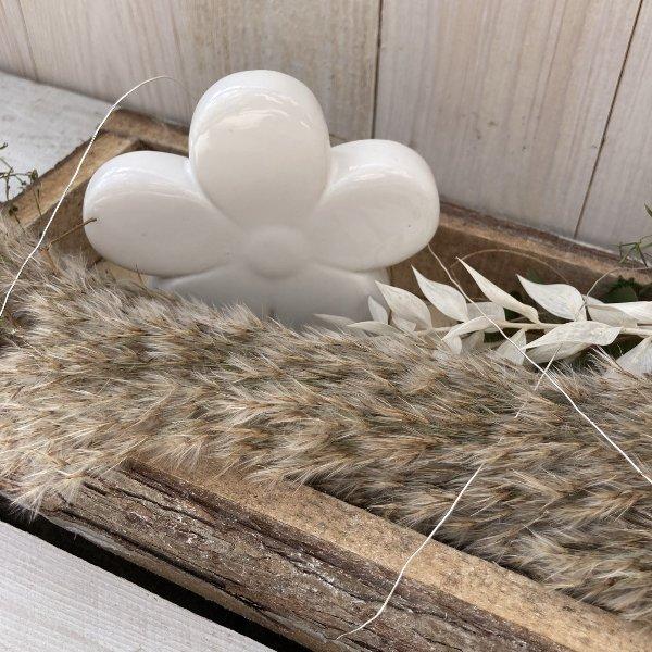 """Tablett """"White Flower"""" Bild 3"""