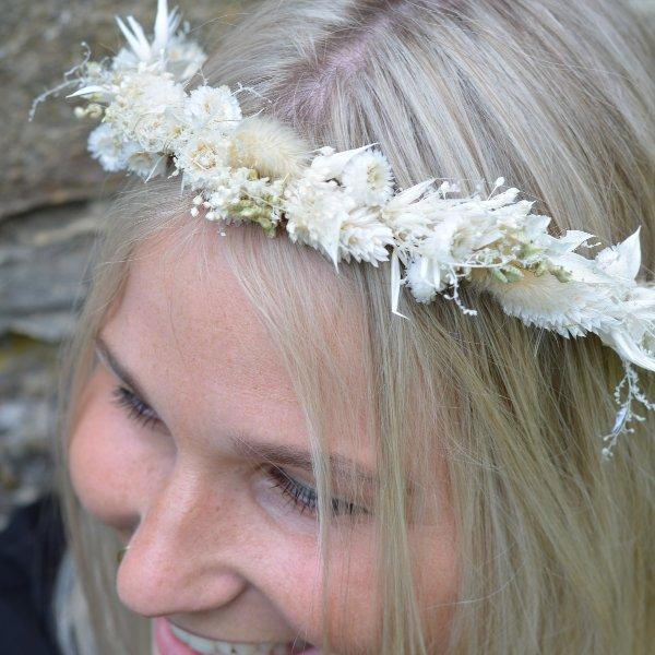 Trockenblumen Haarkranz `Elisabeth` Bild 1