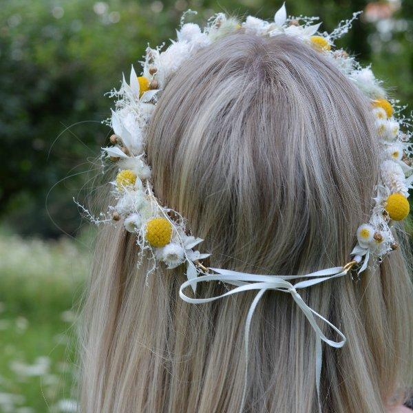 Trockenblumen Haarkranz `Johanna´ Bild 1