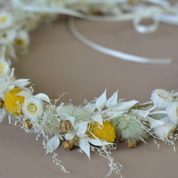 Trockenblumen Haarkranz `Johanna´ Bild 2