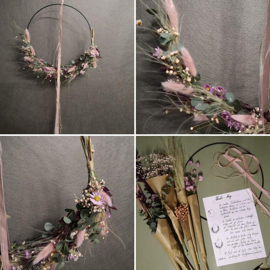 Trockenblumen - Kranz- rosa Bild 1