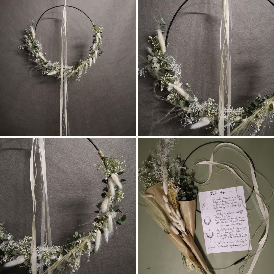 Trockenblumen - Kranz- weiß Bild 1