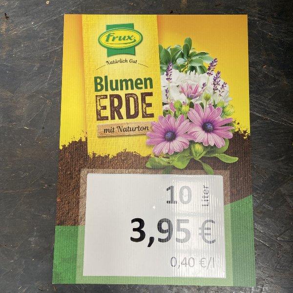 Blumenerde mit Naturton, 10 Liter Bild 1