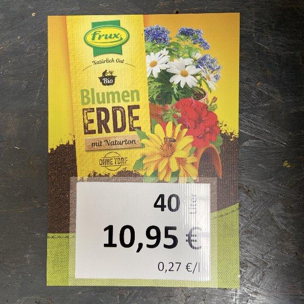 Blumenerde mit Naturton Torf frei, 40 Liter Bild 1