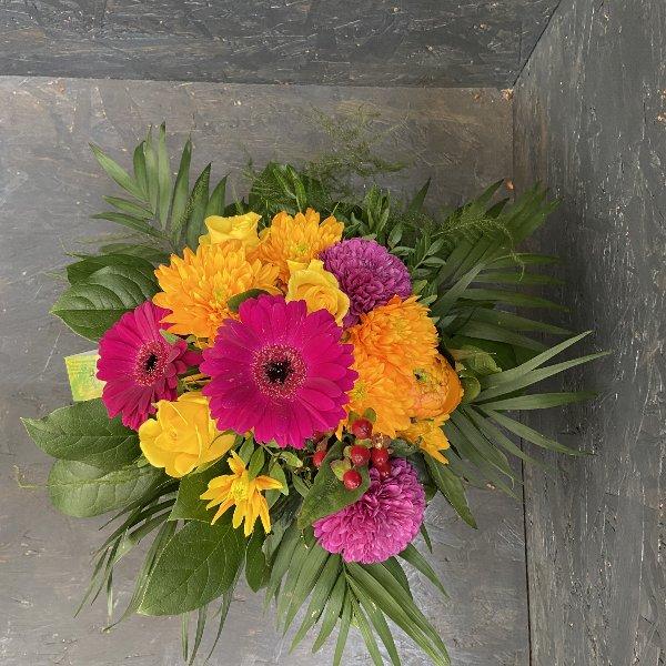 Blumenstrauß in Orange & Pink Bild 1