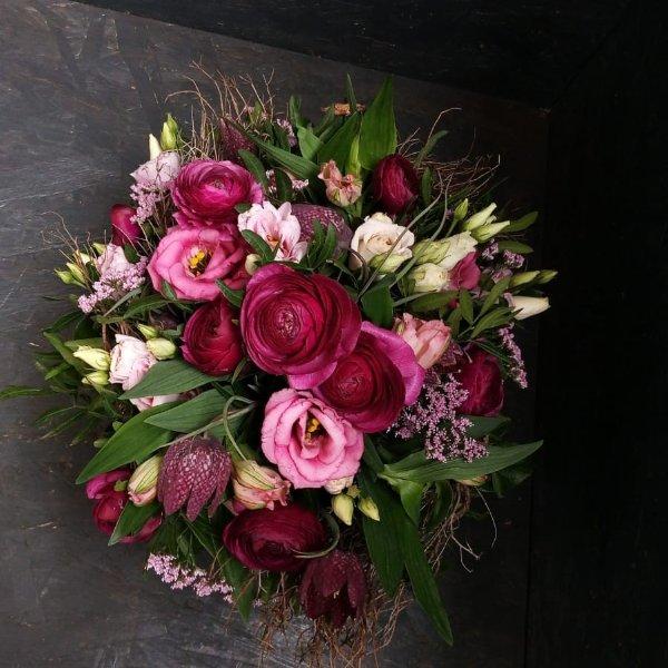 Blumenstrauß in Lilatönen Bild 1