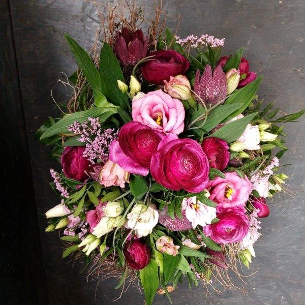 Blumenstrauß in Lilatönen Bild 2