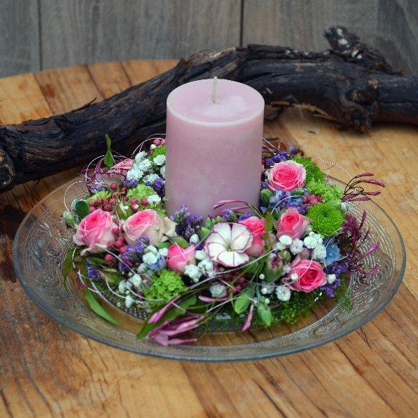 """Blütenkränzchen in rose"" Bild 1"