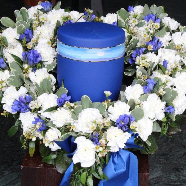 Urnenherz blau-weiss Bild 1